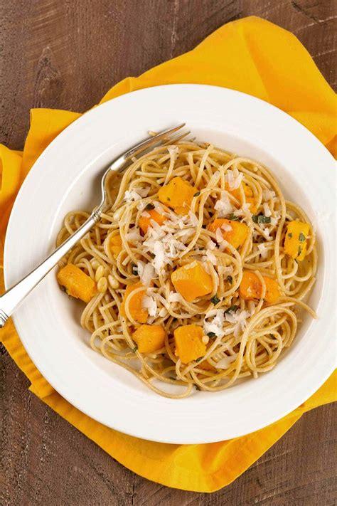 Spaghetti With Roasted Butternut Squash Sage