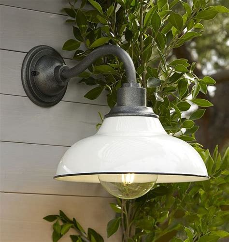 white industrial farmhouse modern exterior entryway light