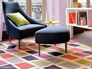 50 tapis qui ont du style elle decoration With tapis kilim avec canape cuir vintage maison du monde