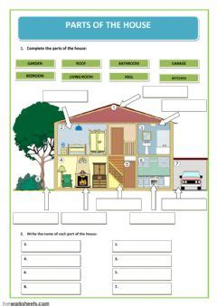 house interactive worksheets