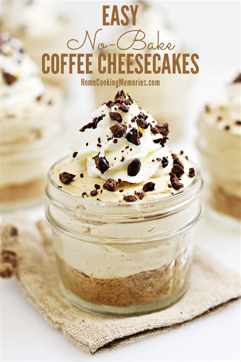 easy to prepare desserts easy no bake coffee cheesecakes recipe