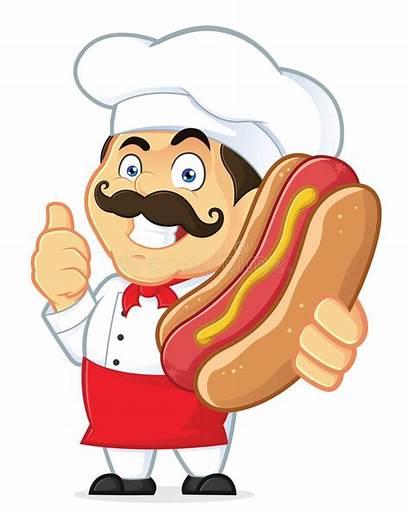 Dog Holding Cartoon Chef Clipart Character Kok