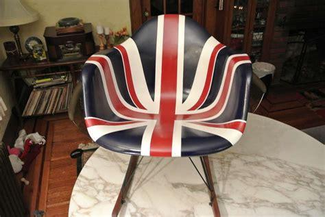 Charles Eames Union Jack Fiberglasss Shell Arm Chair On