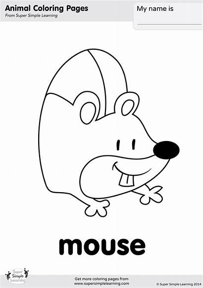Coloring Hickory Mouse Dickory Simple Pages Super