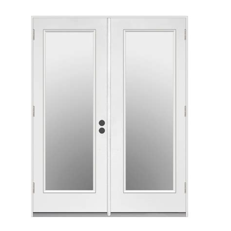 door lowes on 56 in 1 lite glass fiberglass