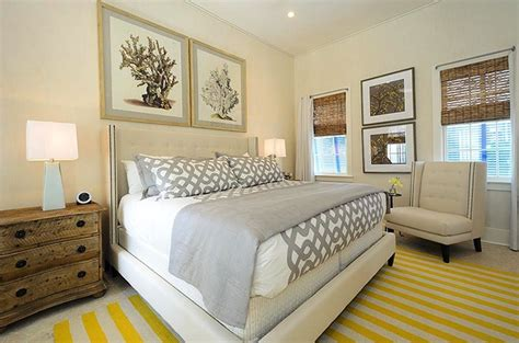 Gray And Yellow Bedroom