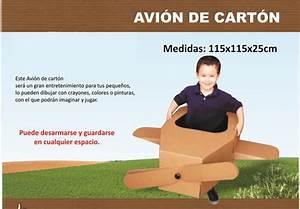 Avion De Carton Avionsito Para Niños Para Pintar Armable $ 530 00 en Mercado Libre
