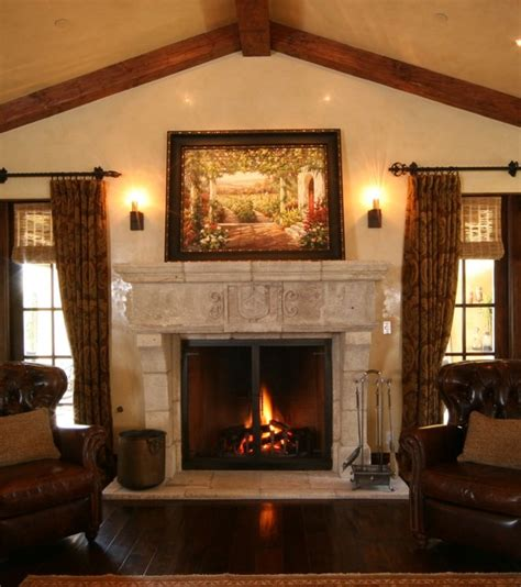 Antique Stone Fireplace Mantels  Mediterranean Living