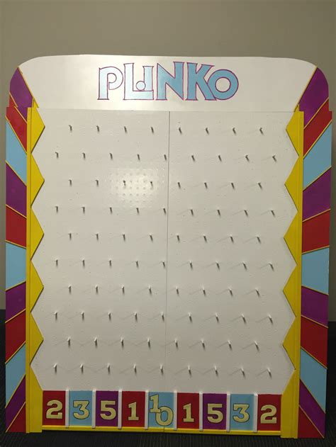plinko board template diy plinko board from the price is right diy