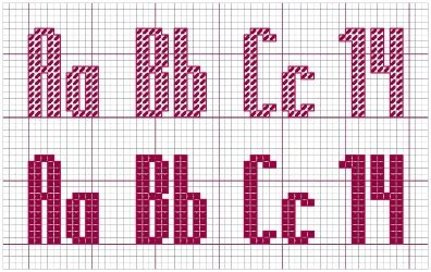 cross stitch alphabet patterns printable