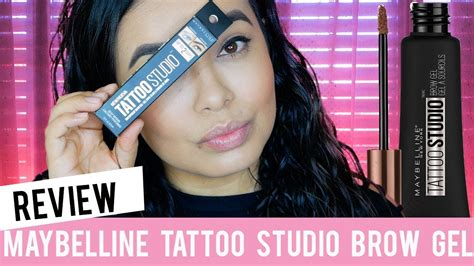 maybelline tattoo studio brow gel review youtube