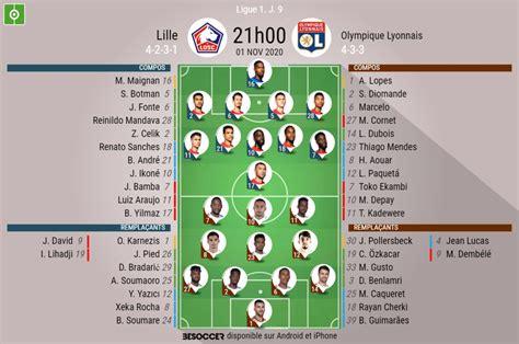 Les compos officielles du match Lille - OL - BeSoccer
