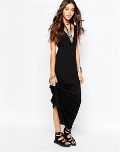 robe longue fluide ete noire habillee la robe longue With robe longue noire été