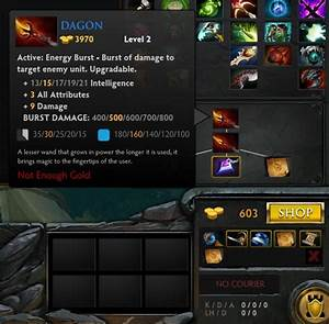 Dota 2 How Do I Upgrade Items Such As The DAGON That Say