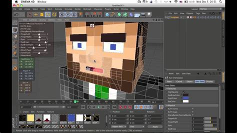cinema  minecraft rig template youtube