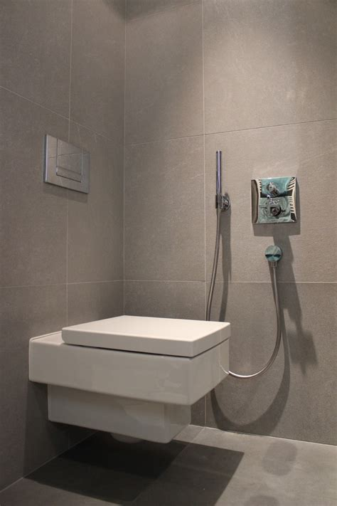 toilet bidet combo Bathroom Contemporary with aluminum
