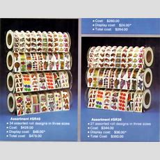 Awesome Display For Stickers Rolls From A Vintage 80's