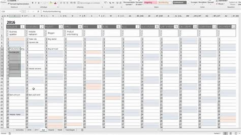 business planner excel demonstratie youtube