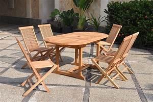 Table Teck Jardin : salon de jardin en teck brut 6 8 places kajang ~ Teatrodelosmanantiales.com Idées de Décoration
