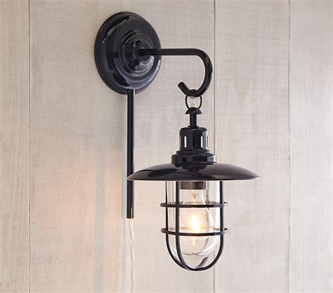 Fisherman Wall Sconce - navy fisherman wall sconce wall lights pottery