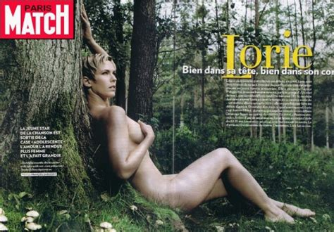 Lorie Pose Nue Dans Paris Match