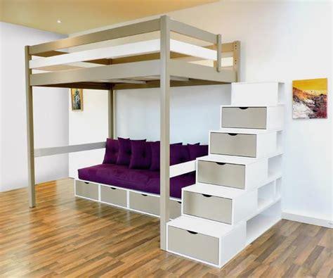 lit mezzanine 2 places avec canap photo lit mezzanine 2 places avec canape lit chaios com