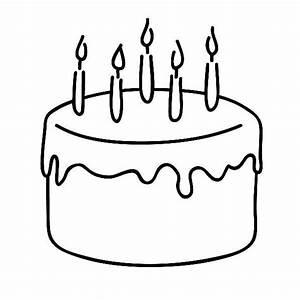 Birthday cake clip art free black and white clip art ...