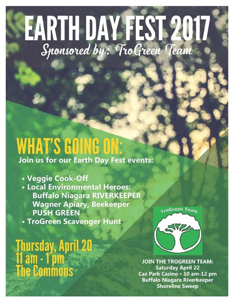 trogreen plans earth day activities trocaire college