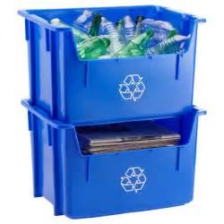 Stacking Recycling Bin Blue