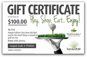 Golf Certificate Template Free Buy Gift Certificates North Lakes Resort Golf Club