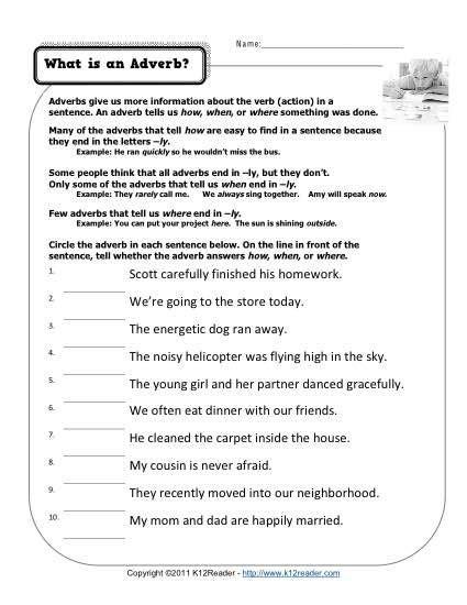 what is an adverb third grade adverbs adverb