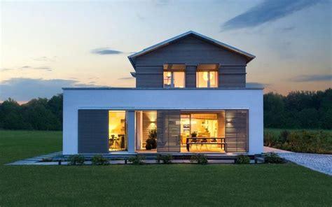 Moderne Häuser Satteldach Bilder by Fertighaus Flachdach Moderne Holzhaus Architektur Mit