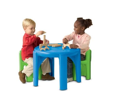 little tikes bright n bold table chairs green blue