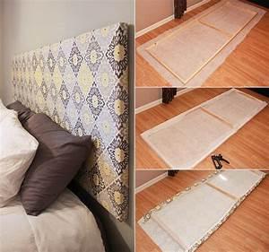 Kopfteil Bett Selber Machen Ikea : schlafzimmer ideen f r bett kopfteil selber machen aus holzrahmen und textil zuk nftige ~ Watch28wear.com Haus und Dekorationen