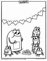 Coloring Storybots Sheets Valentine Alphabet Sheet Yummy Treats Valentines Activity Worksheets Colorir Kolorowanki Letter Colouring Bear Dzieci Dla Paginas Printable sketch template
