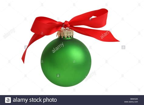 christmas ornament with bow cut out isolated on white
