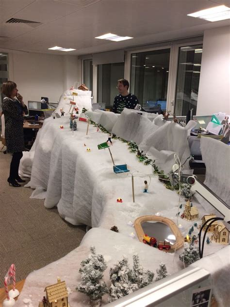 office desk christmas decoration competition christmas