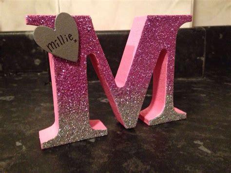 millie ombre glitter freestanding wooden letter
