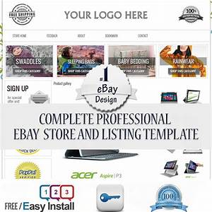 Ebay Professional Design Listing Template Store Layout