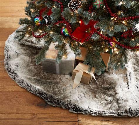 aspen faux fur tree skirt novacom