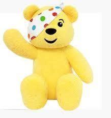 soft pudsey bear teddy multicoloured spots amazonco
