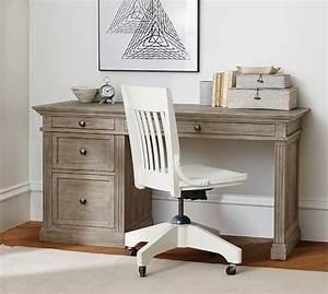 livingston small desk pottery barn With barn board office desk