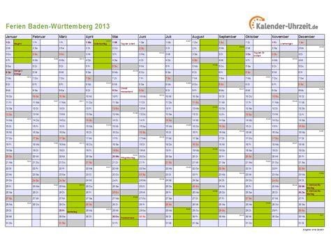 schulferien baden wuerttemberg ferienkalender zum ausdrucken