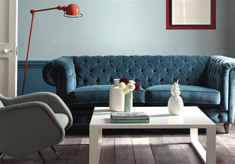 canapé bleu roi le bleu roi de nos intérieurs décoration