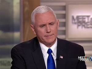 NBC Host Grills Pence: Why Can't Trump 'Say A Negative ...
