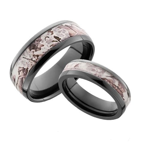 snow camo rings  men  women camokix