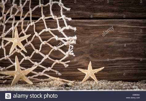 fishing net background nautical background with starfish and pattern