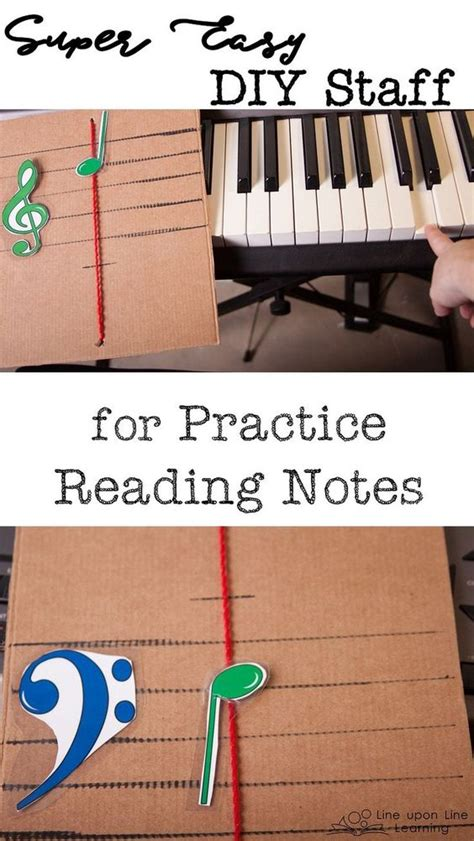read diy for s easy diy staff for practice reading notes simple We