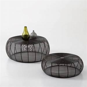 Table Basse Ronde Gigogne : table basse ronde acier filaire bangor lyon femmes ~ Teatrodelosmanantiales.com Idées de Décoration