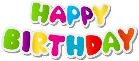happy birthday clipart happy birthday png text clipart images gallery for free